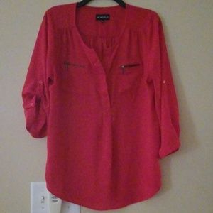 My Michelle Tops - XL My Michelle Red Blouse